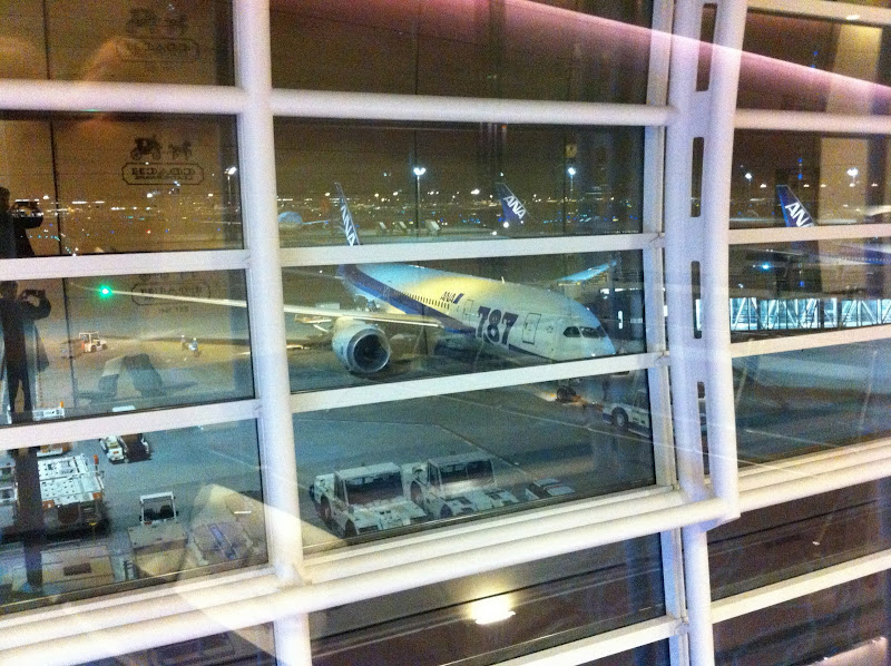 Boeing 787 of All Nippon Airways in Tokyo Haneda airport