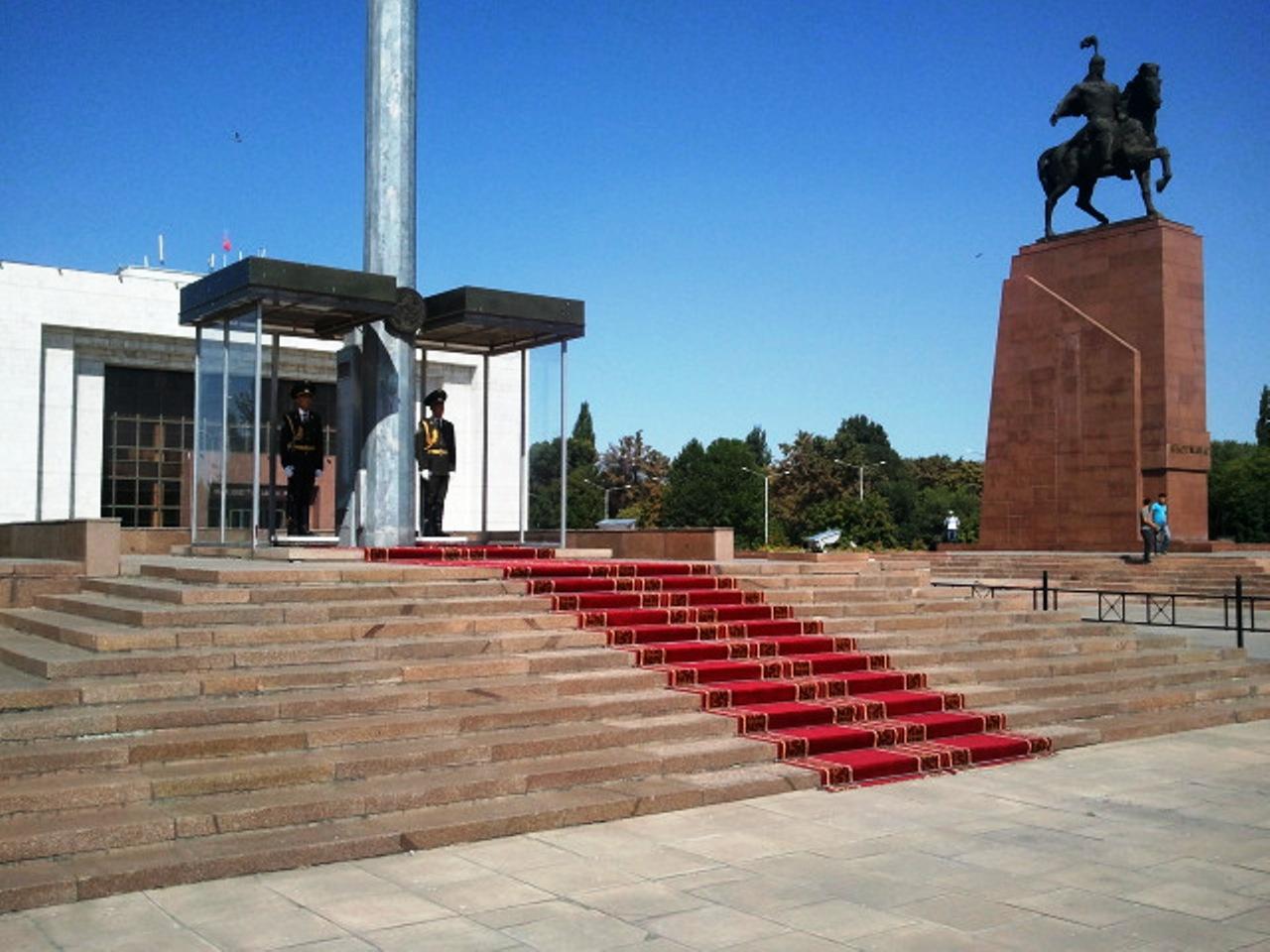 В центре города Бишкек