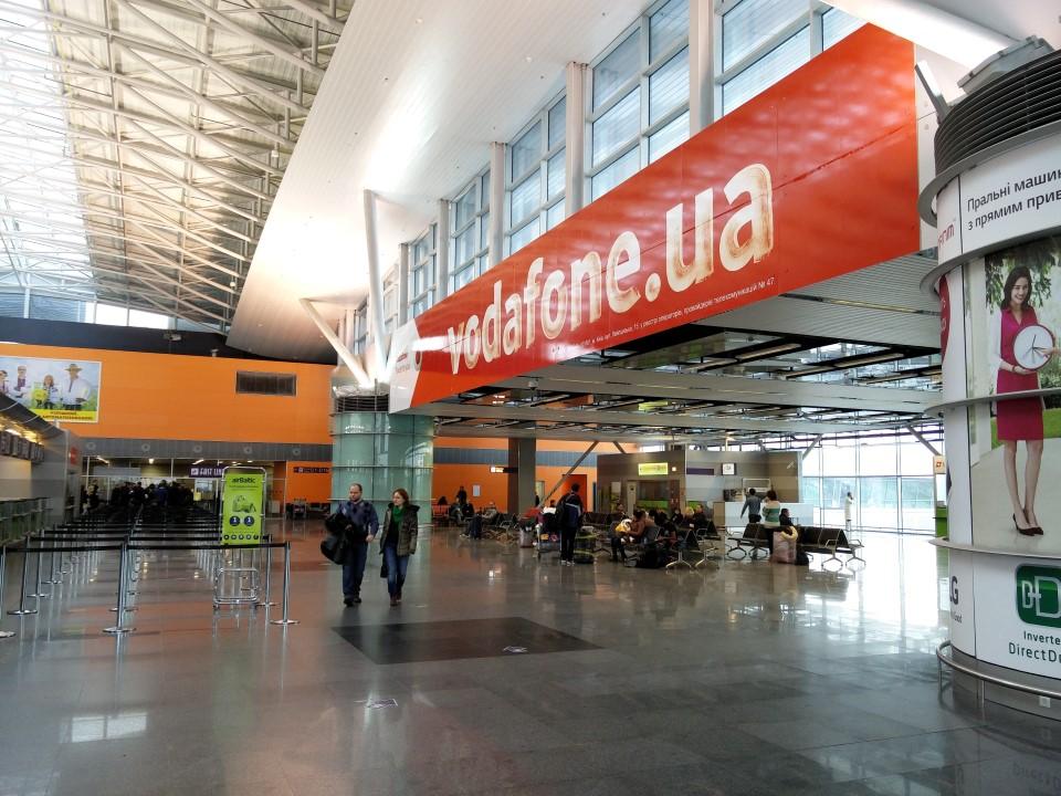 В терминале D аэропорта Киев Борисполь