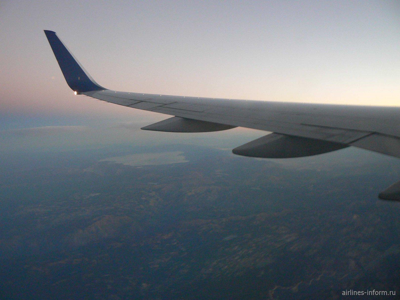 Обратный вылет из СФ. Под крылом-Калифорния