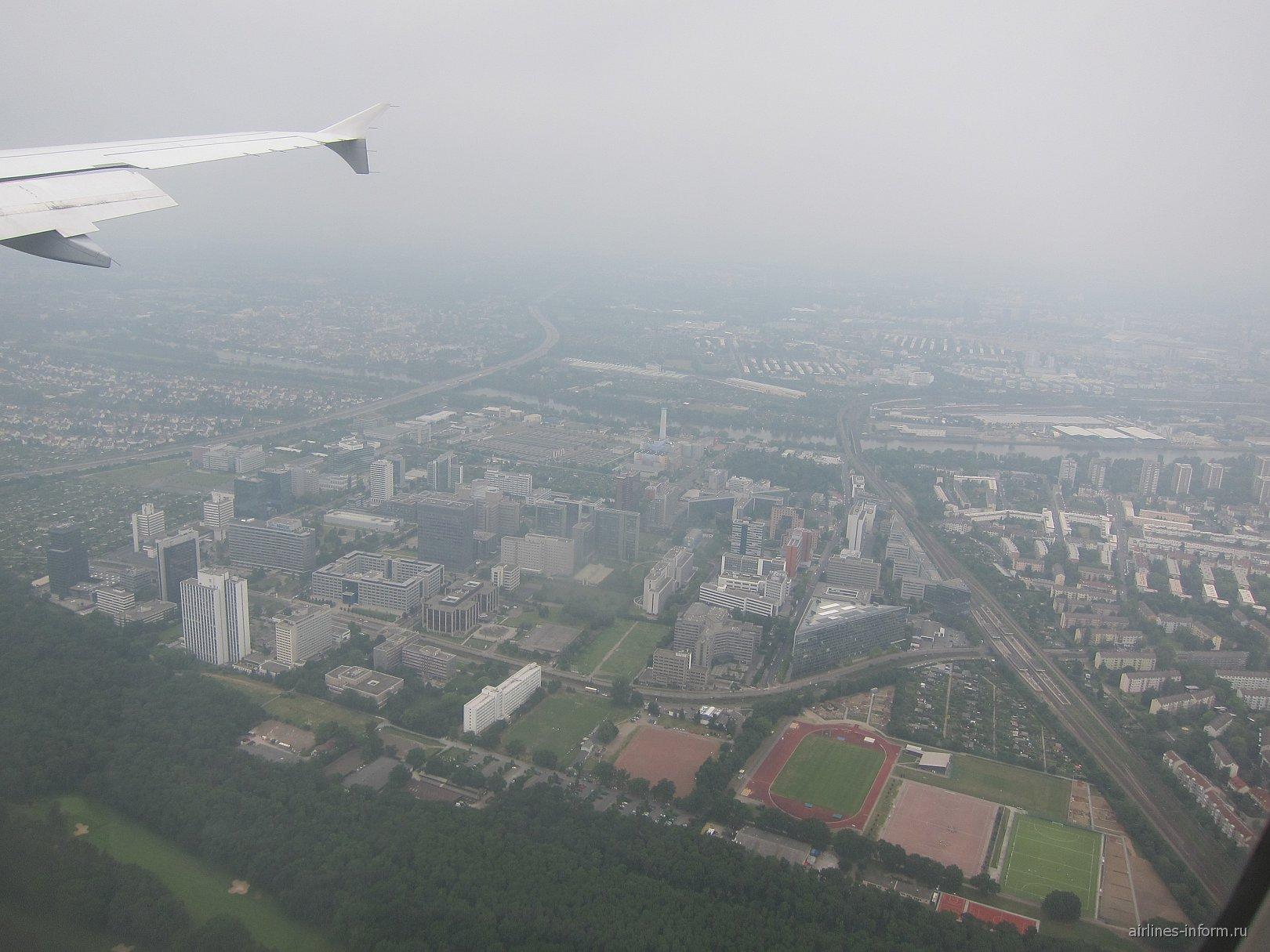 В полете над Франкфуртом-на-Майне