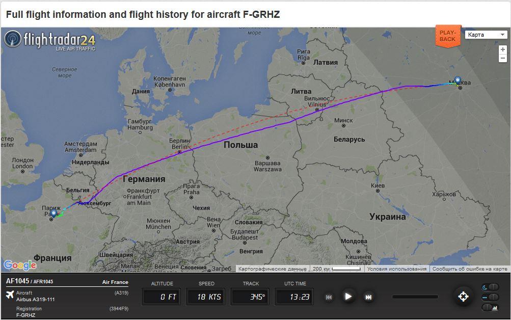 План полета