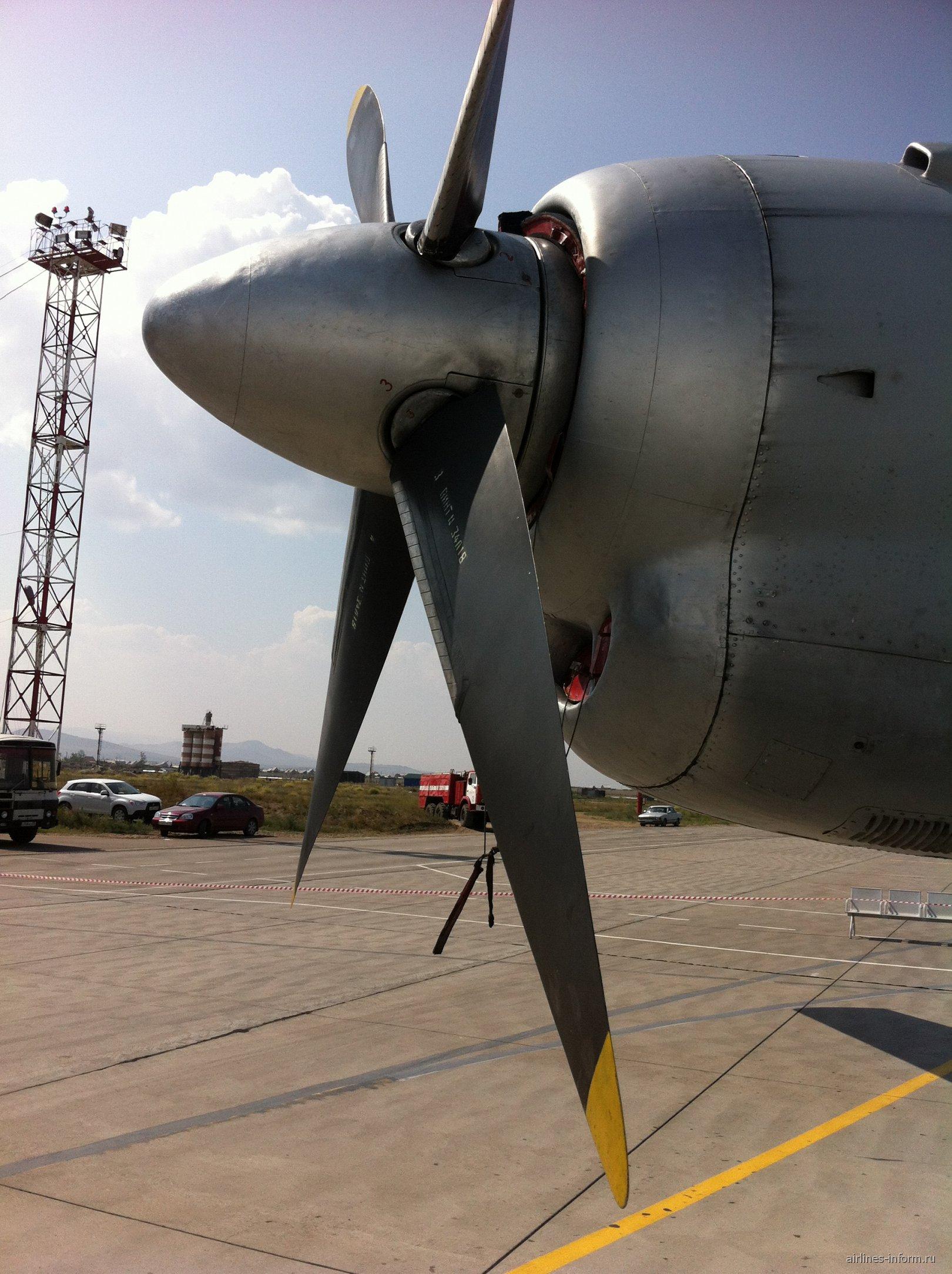 Самолет Ан-24 Бурятских авиалиний