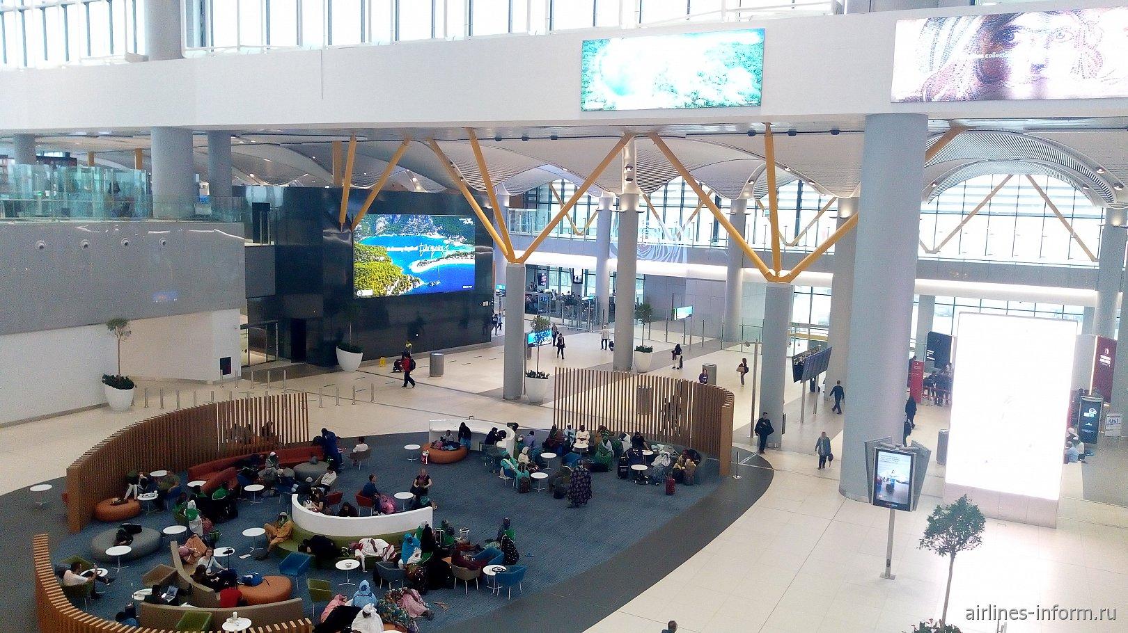 Зона отдыха в аэропорту Стамбул Новый