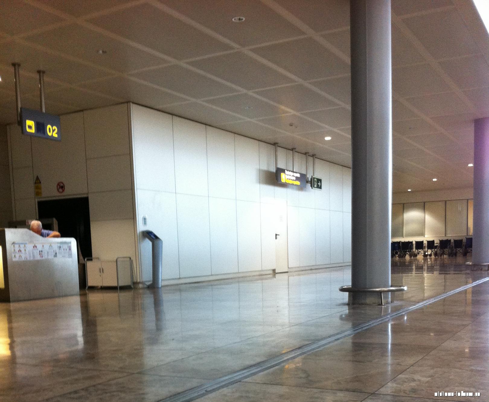 Стойка регистрации негабаритного багажа