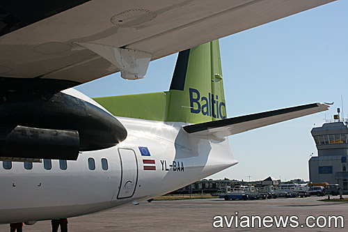 Fokker 50 of airBaltic