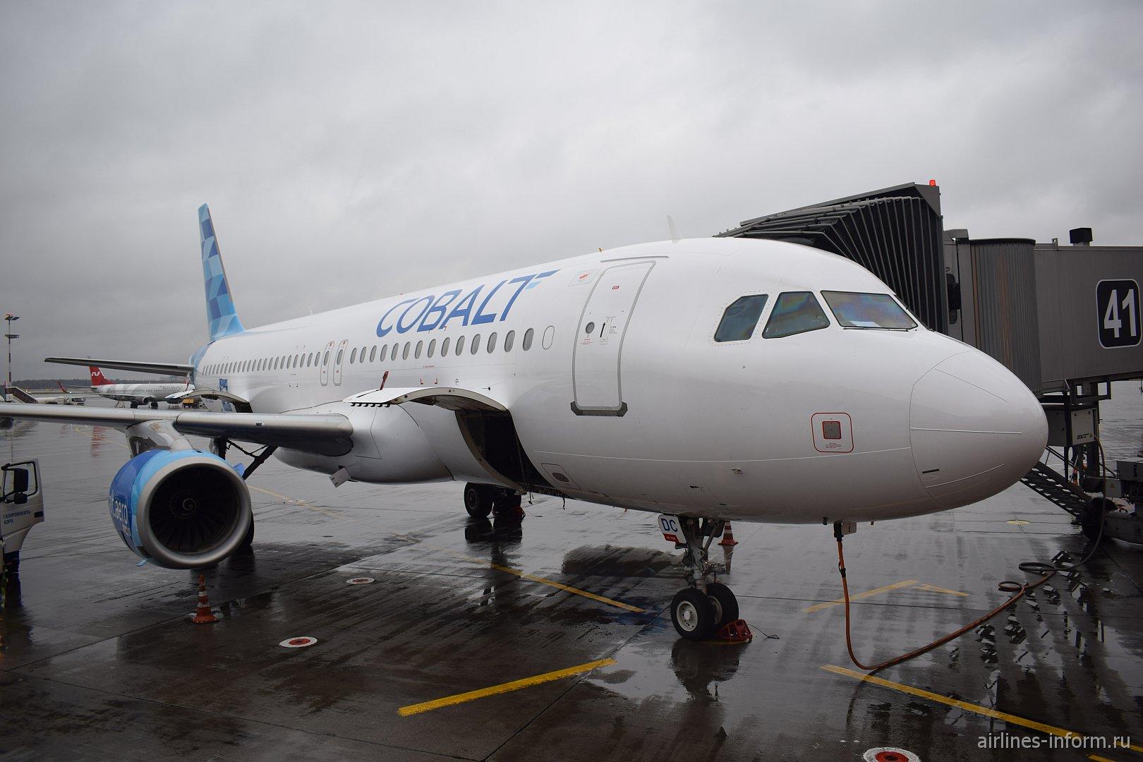 Airbus A320 авиакомпании Cobalt выполнил первый рейс в Москву