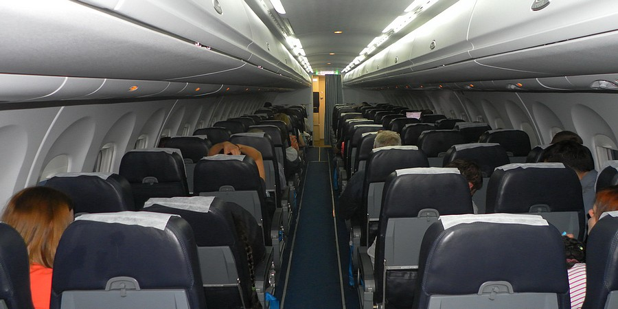 "Салон самолета Ан-148 авиакомпании ""Ангара"""