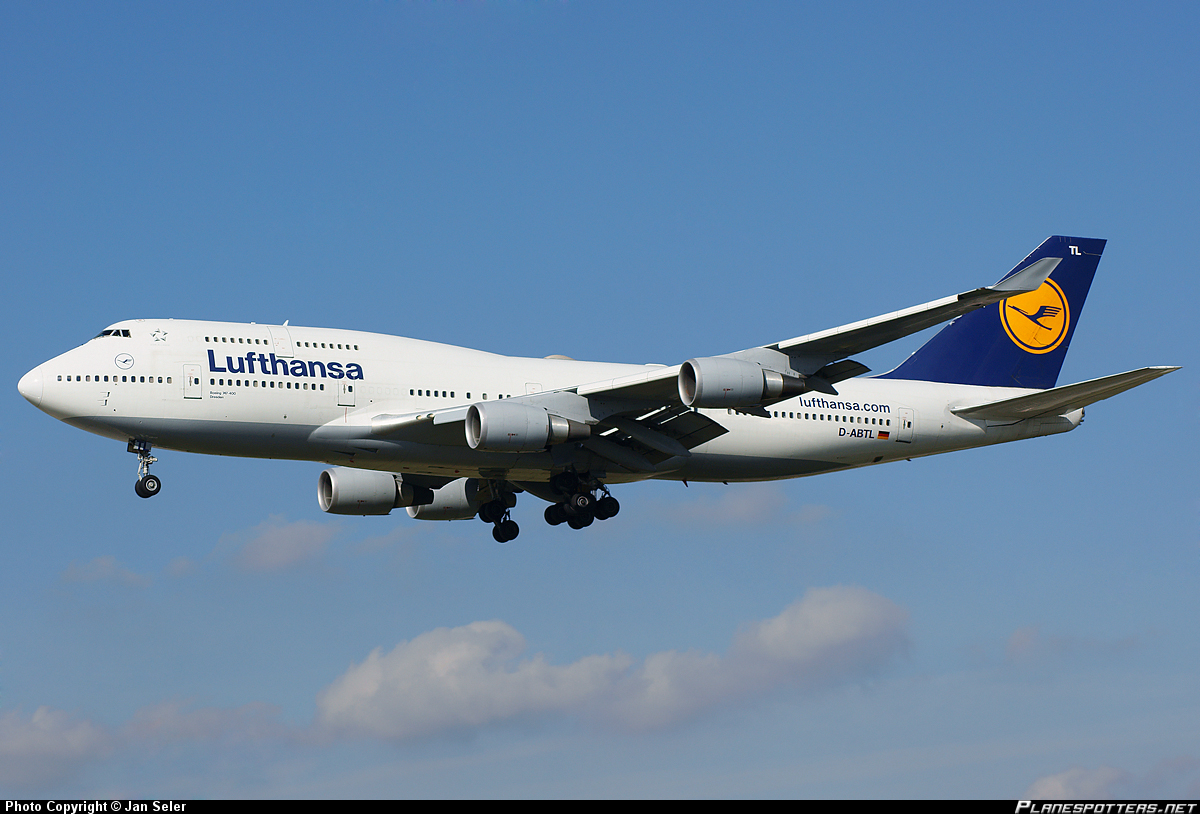 Боинг-747-400 авиакомпании Люфтганза