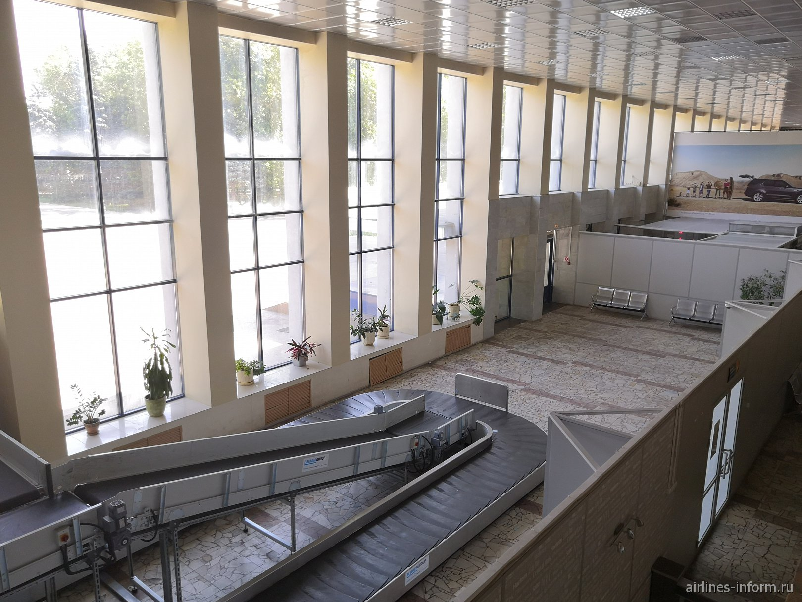 Зал выдачи багажа в аэропорту Саратов Центральный