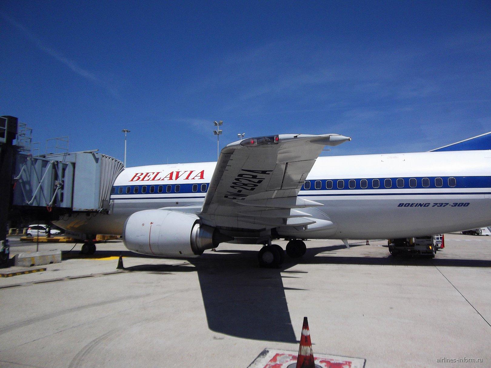 Рейс B20885 Минск 2-Рим (Фиюмичино) Белавиа Боинг-737-300 EW-282PA