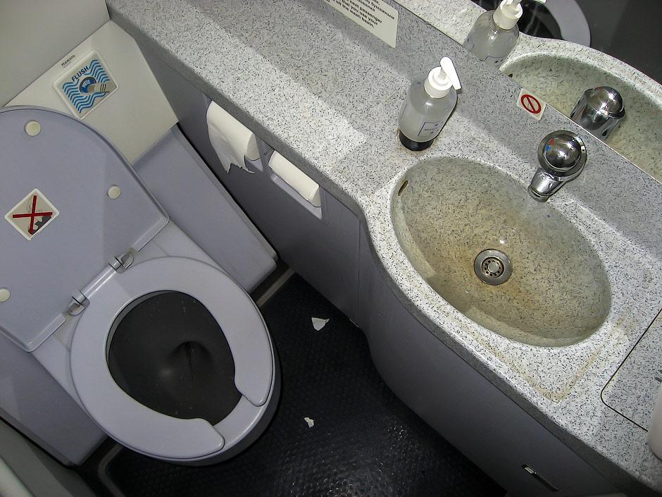 Туалет в самолете Airbus A321 Аэрофлота