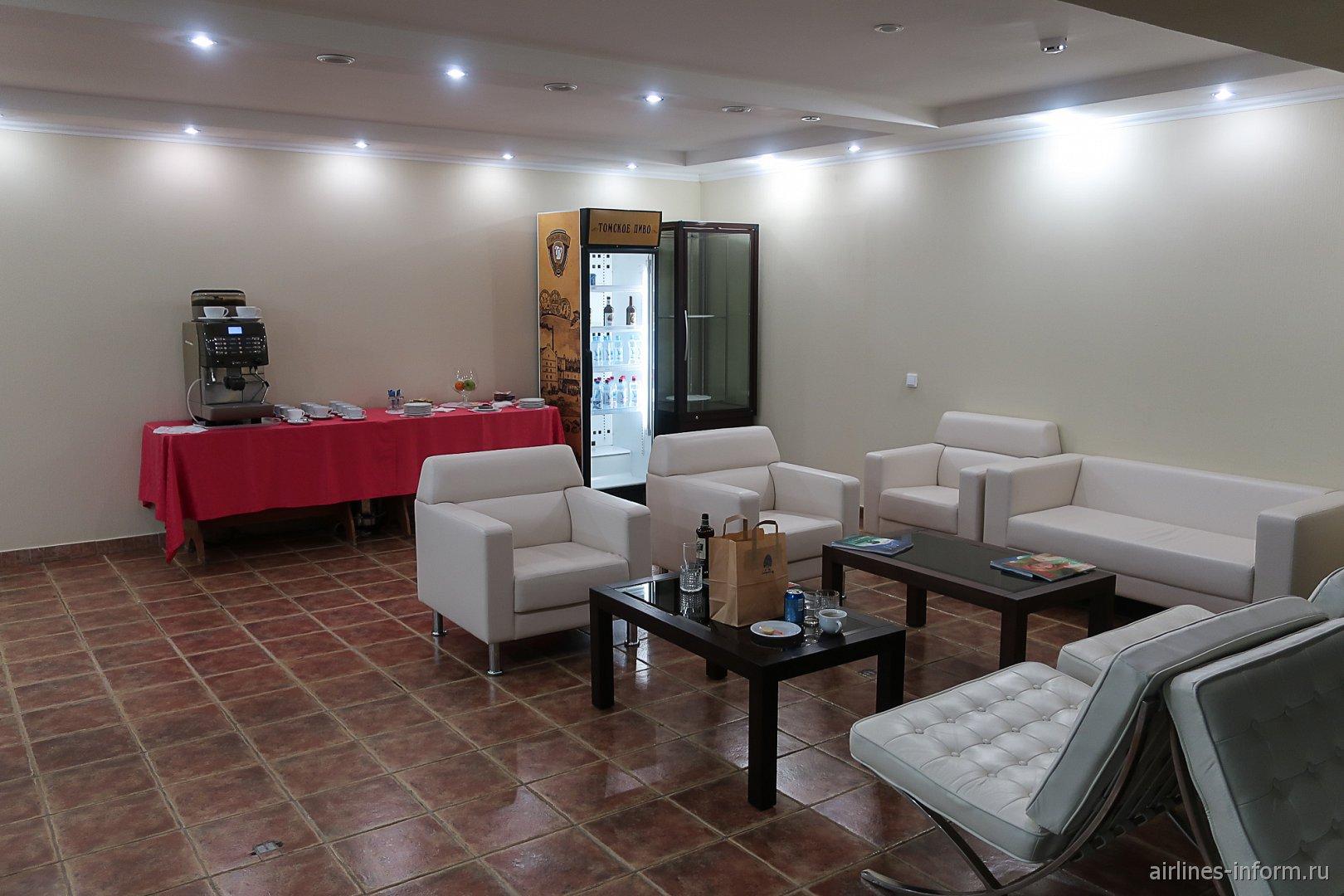 Комната ожидания в бизнес-зале Томского аэропорта