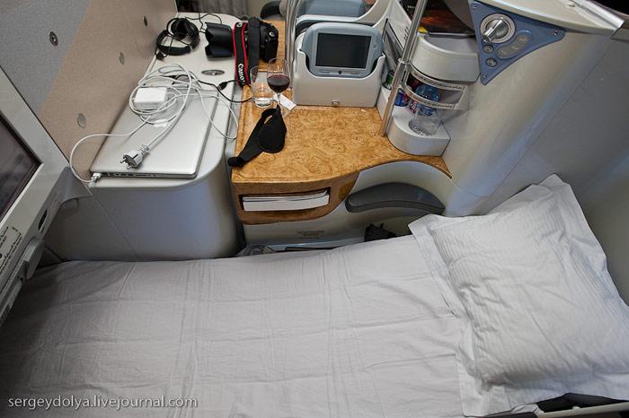Кресло-кровать бизнес-класса Airbus A380 Emirates