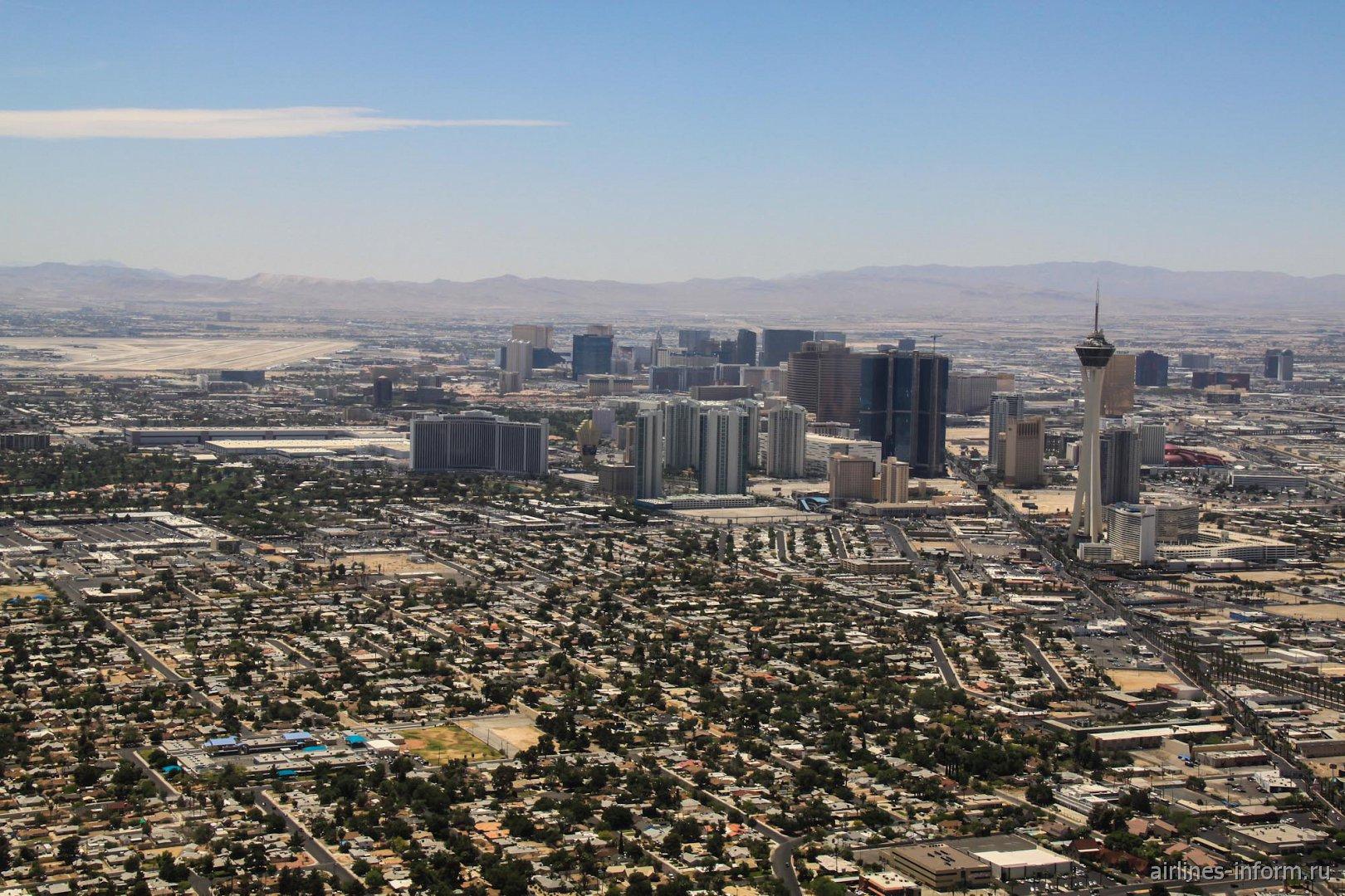 В полете над Лас-Вегасом