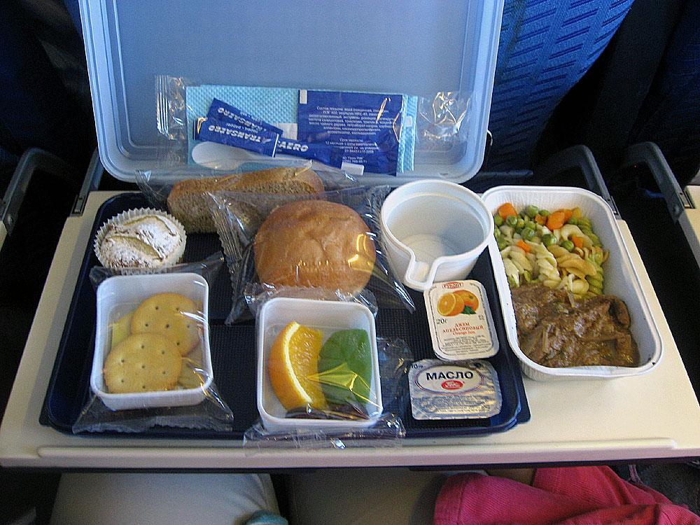 Meal on Transaero flight Moscow-Antalya