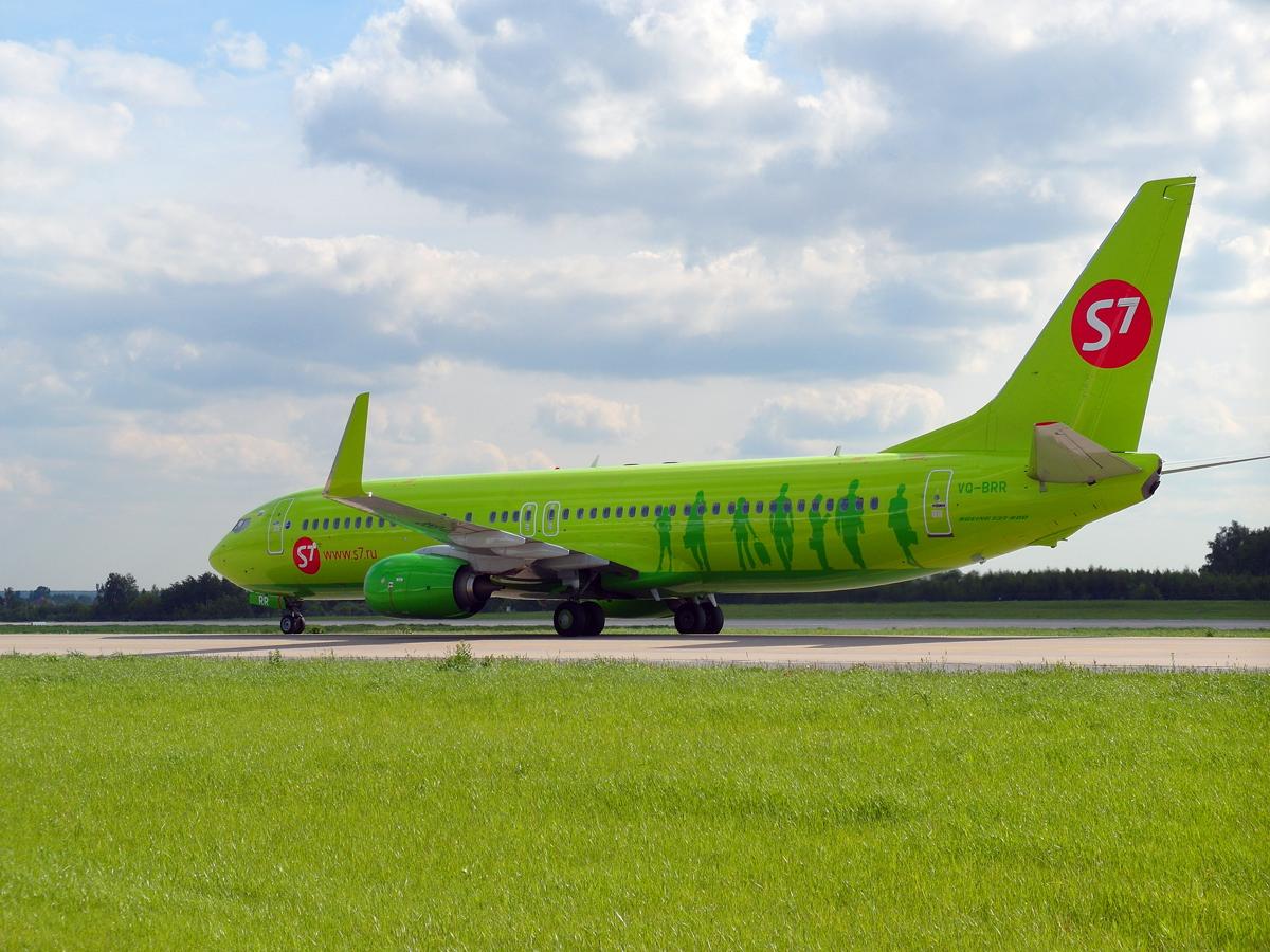 Боинг-737-800 VQ-BRR авиакомпании S7 Airlines в аэропорту Домодедово