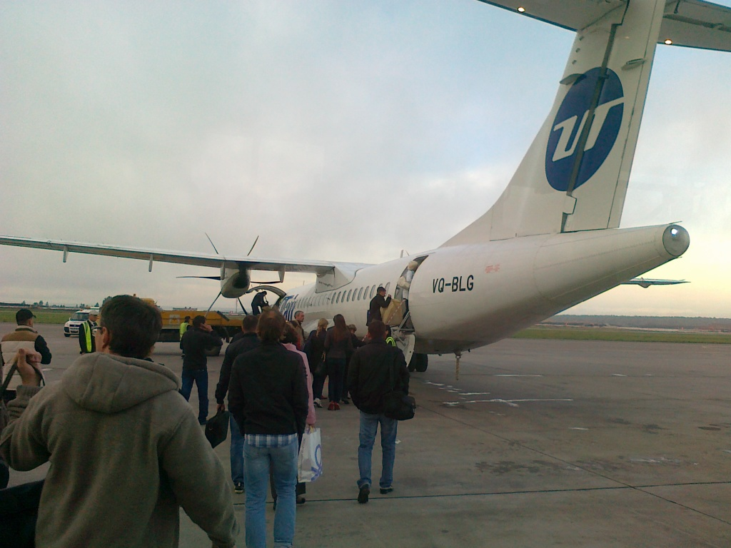 Посадка на рейс Казань-Москва авиакомпании ЮТэйр