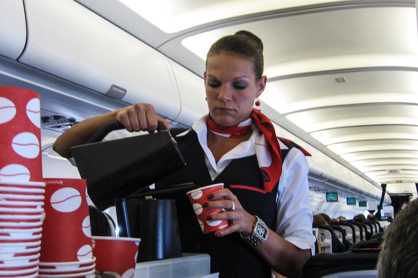 Бортпроводница авиакомпании Brussels Airlines