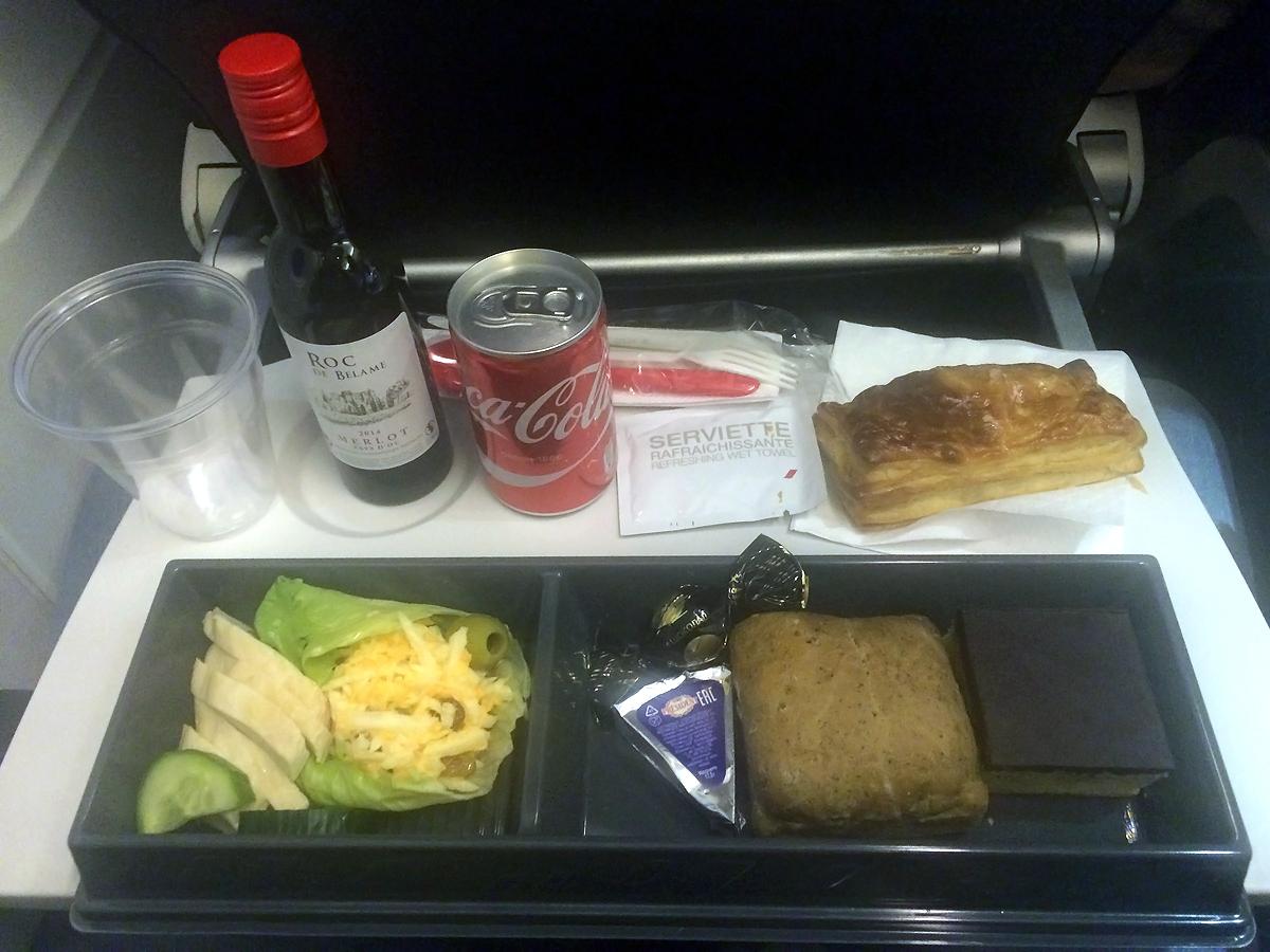 Бортовое питание на рейсе Москва-Париж авиакомпании Air France