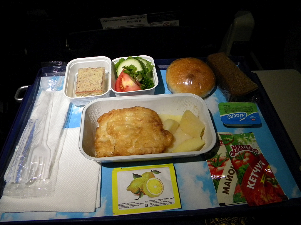 "Питание на рейсе Тюмень-Улан-Удэ авиакомпании ""Центр-Юг"""