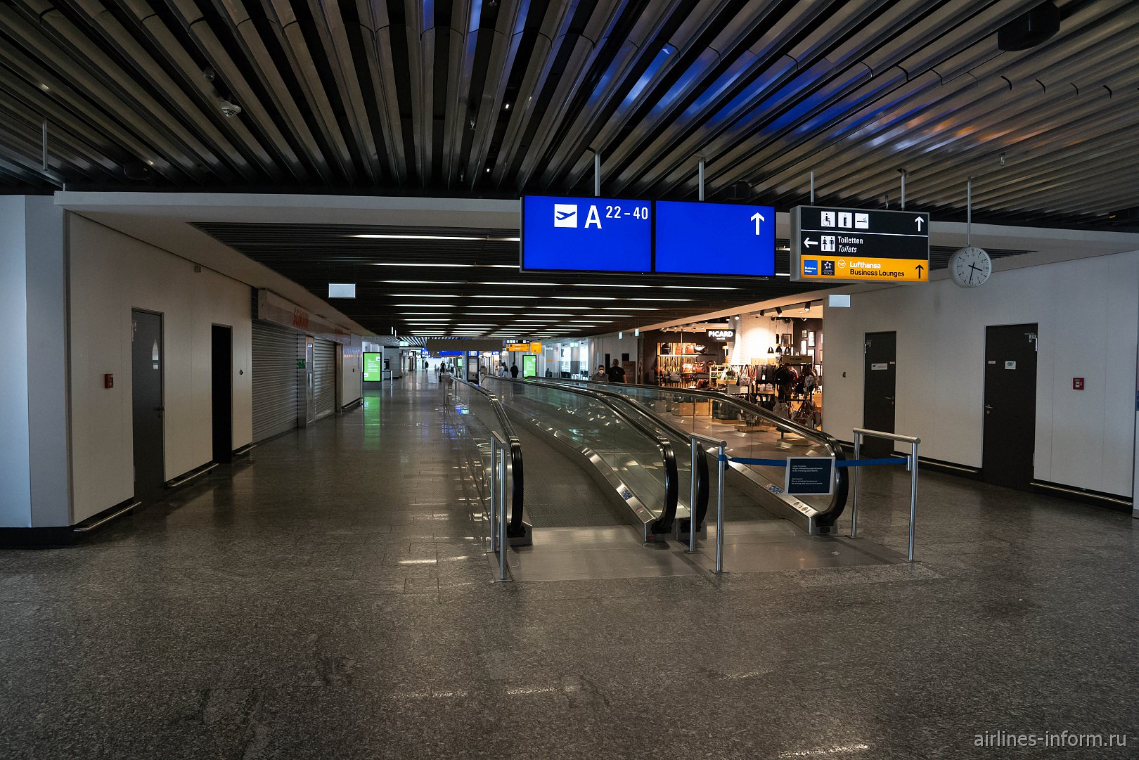 Переход в терминале 1 аэропорта Франкфурт