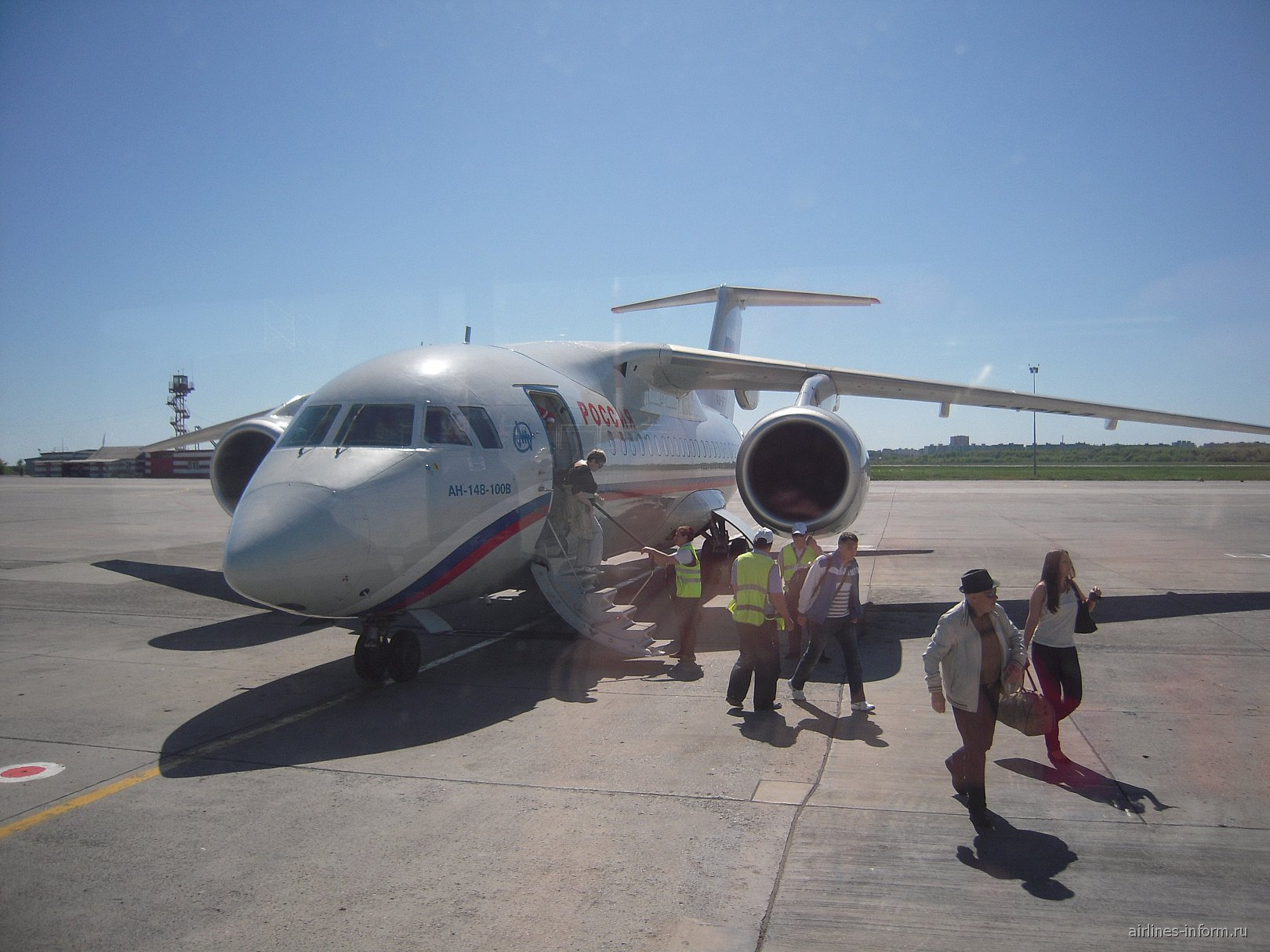 Ан-148 авиакомпании Россия в аэропорту Ростова-на-Дону