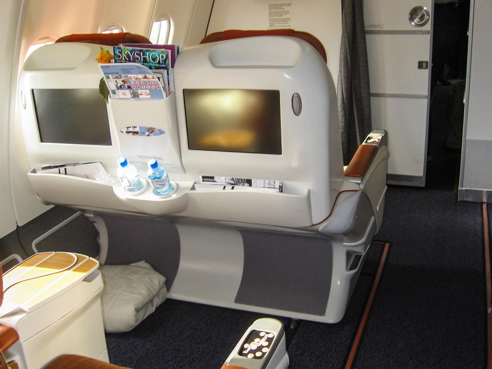 Бизнес-класс в самолете Airbus A330-200 Аэрофлота