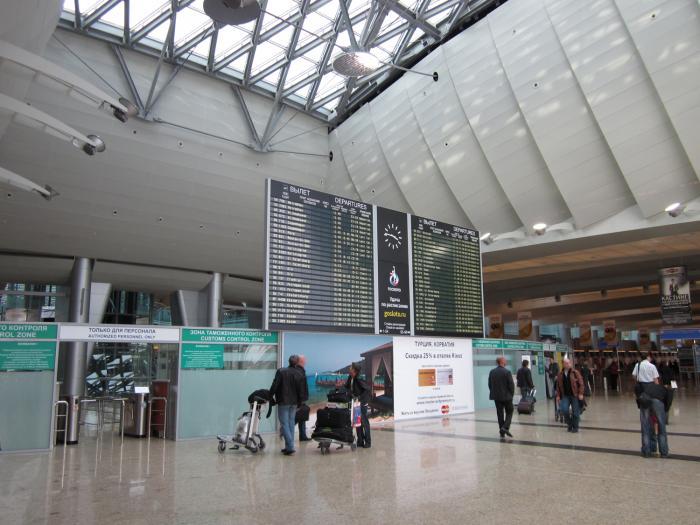 В аэропорту Шереметьево, терминал D