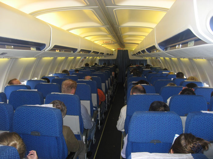 Cabin of Boeing 737-500 Dniproavia