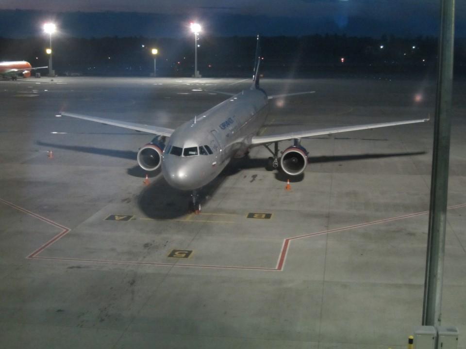 А320 Аэрофлота в аэропорту Борисполь