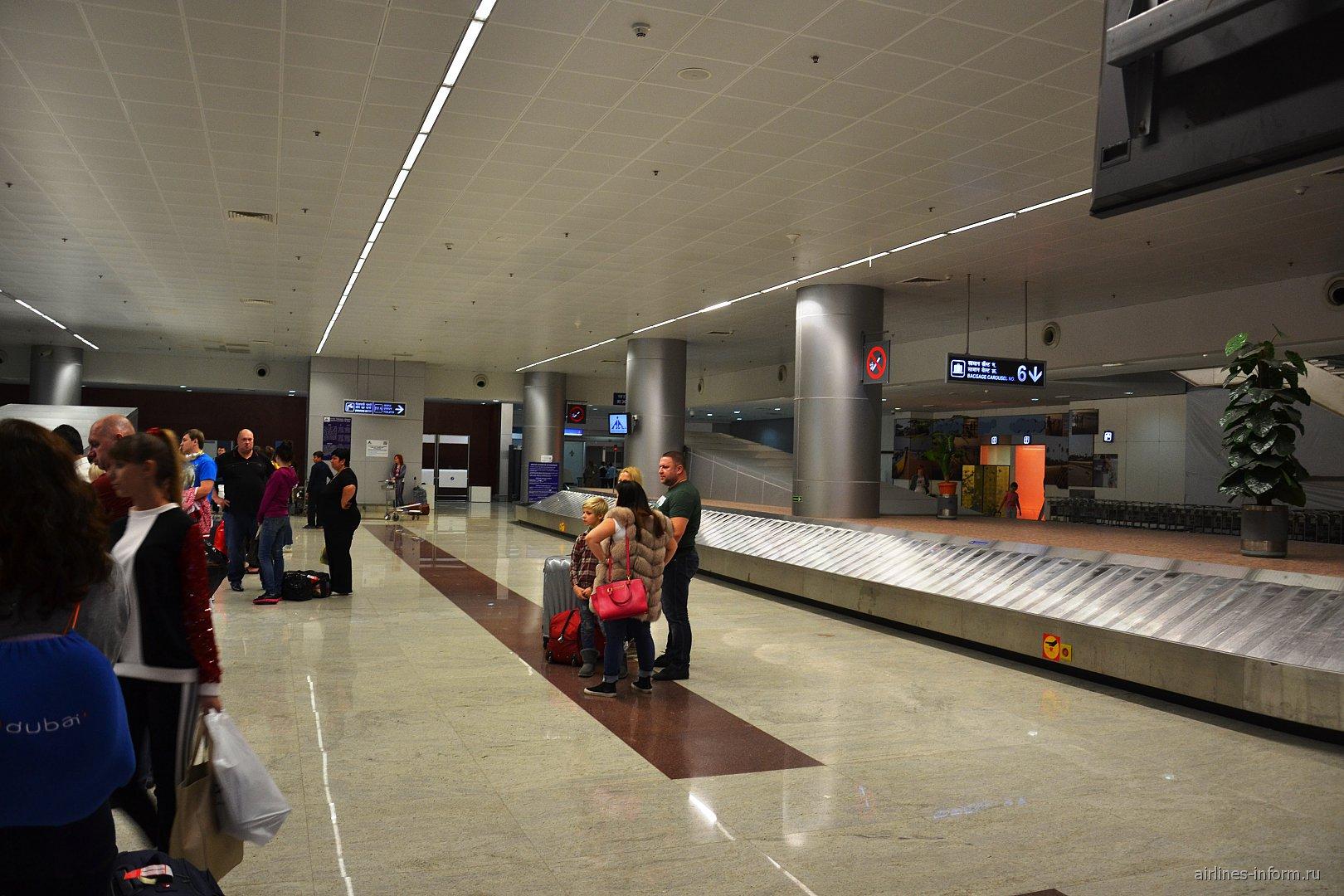Зал выдачи багажа в аэропорту Гоа Даболим