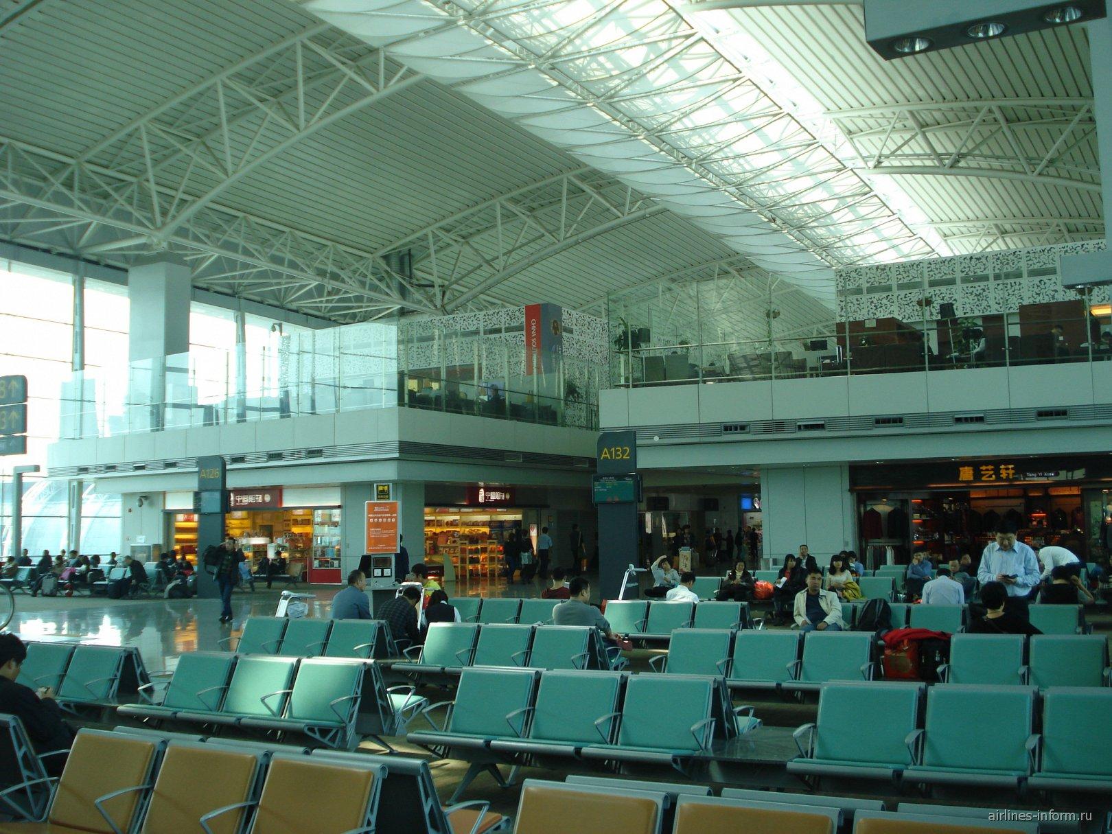 Зал ожидания внутренних вылетов аэропорта Байюнь в Гуанчжоу