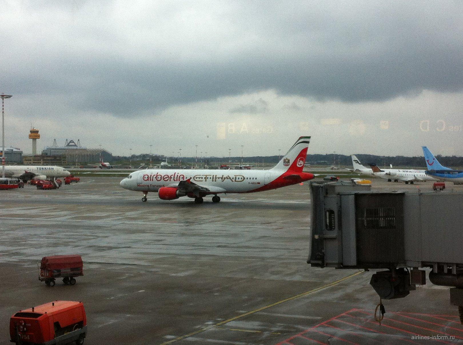 A320 Air berlin-Etihad в аэропорту Гамбург