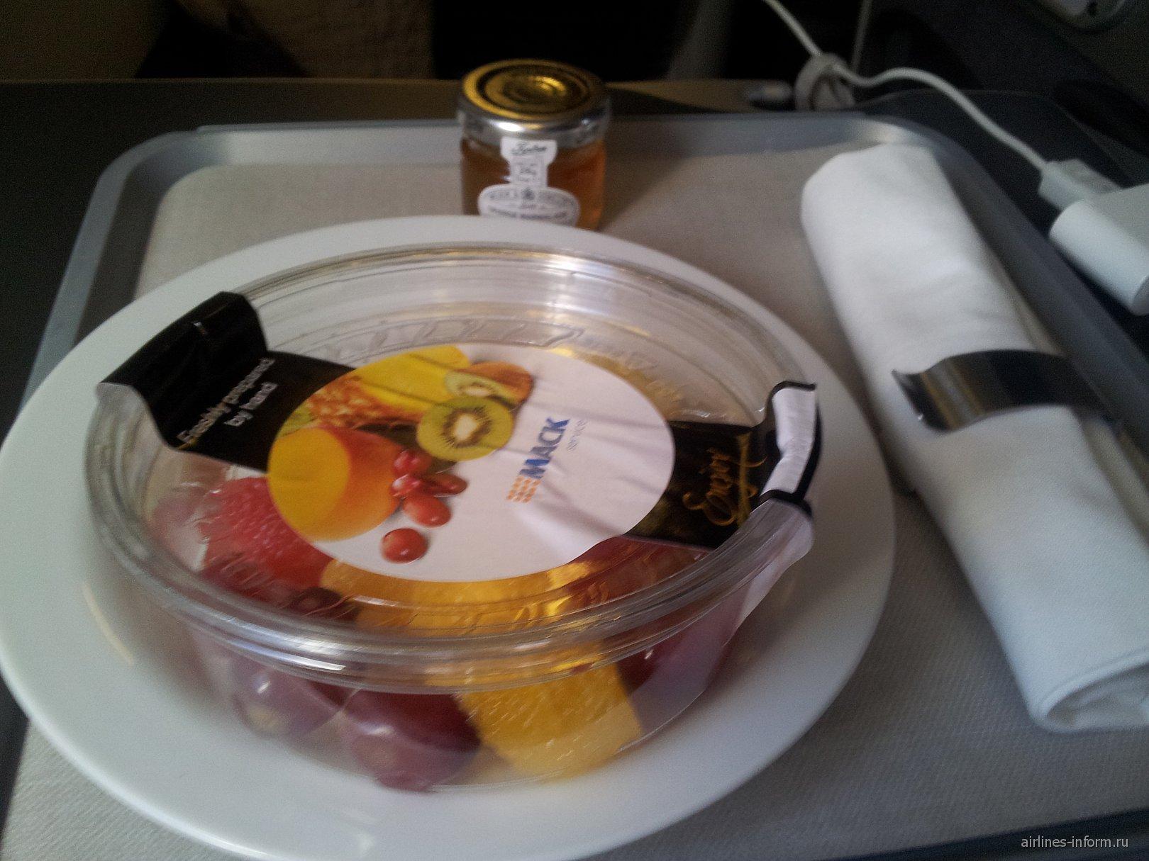 Питание на рейсе Лондон-Алматы Британских авиалиний