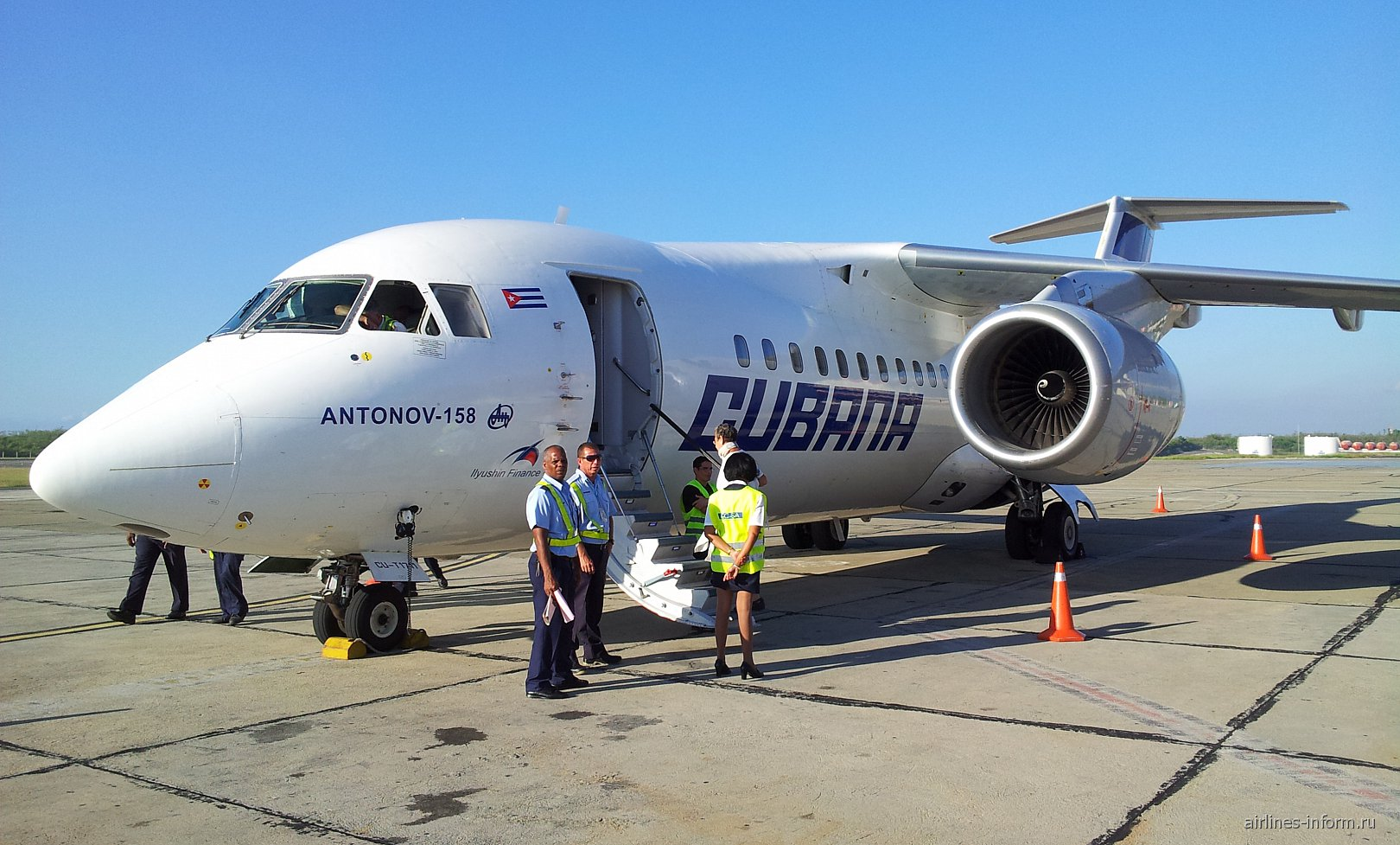 Сантьяго-де-Куба - Гавана на Ан-158  c Cubana de Aviacion (Кубана де Авиасьон)