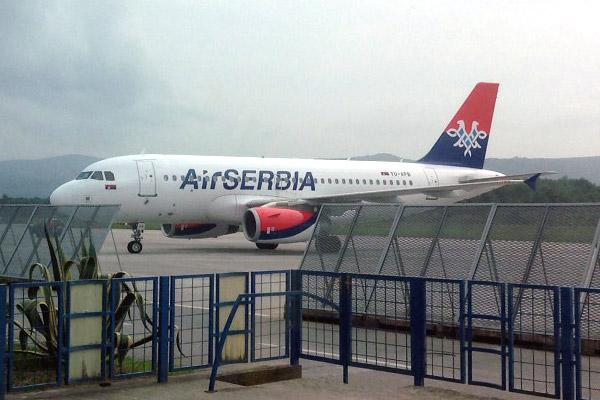 """Из Черногории в Сербию а/к """"air Serbia"""""""