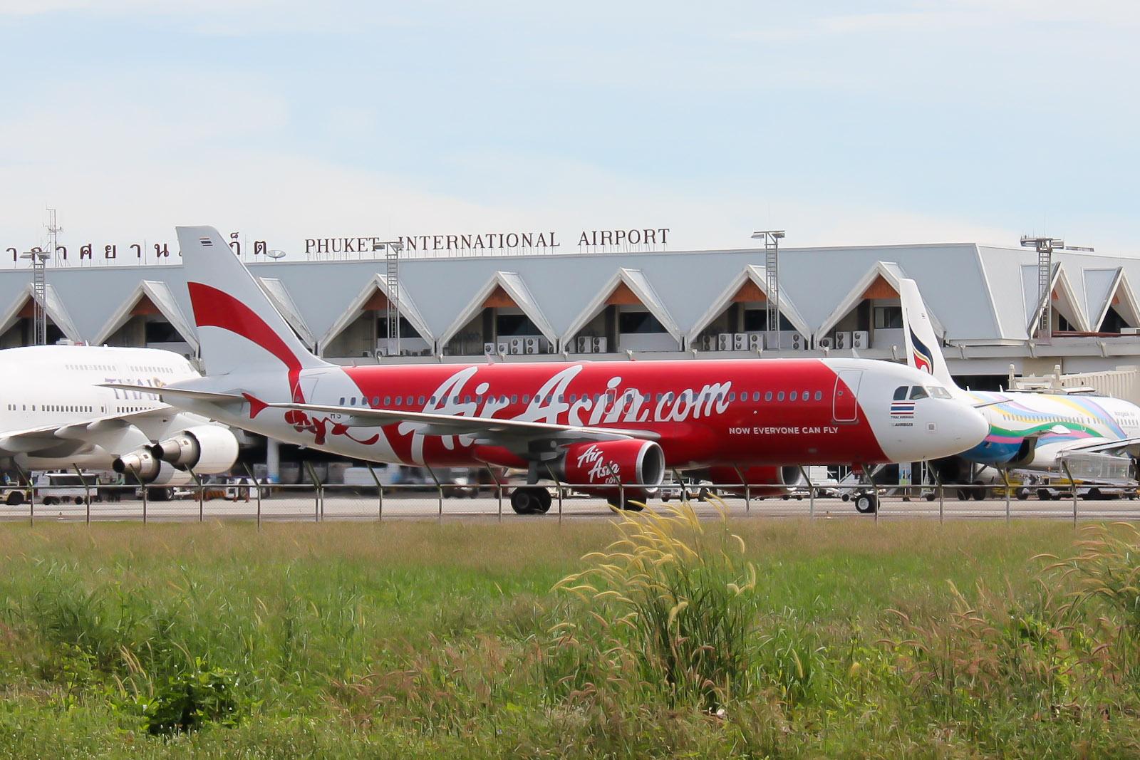 Airbus A320 Thai AirAsia в аэропорту Пхукет