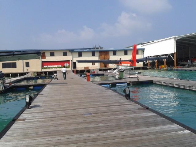 В гидроаэропорту острова Мале