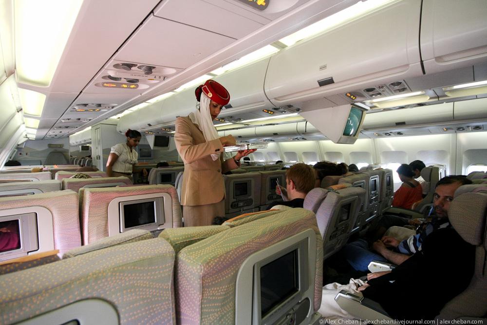 Рейс Дубай-Коломбо авиакомпании Эмирейтс