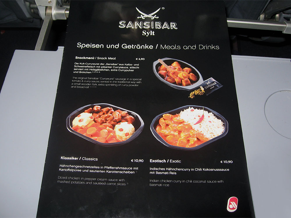 Onboard meals of Air Berlin