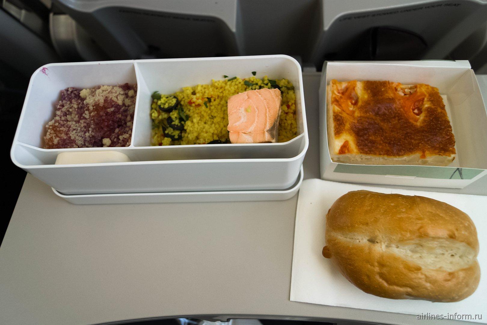 Бортпитание на рейсе Москва-Женева авиакомпании Swiss