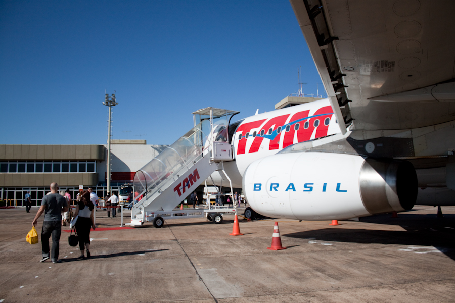 In the Foz do Iguazu airport
