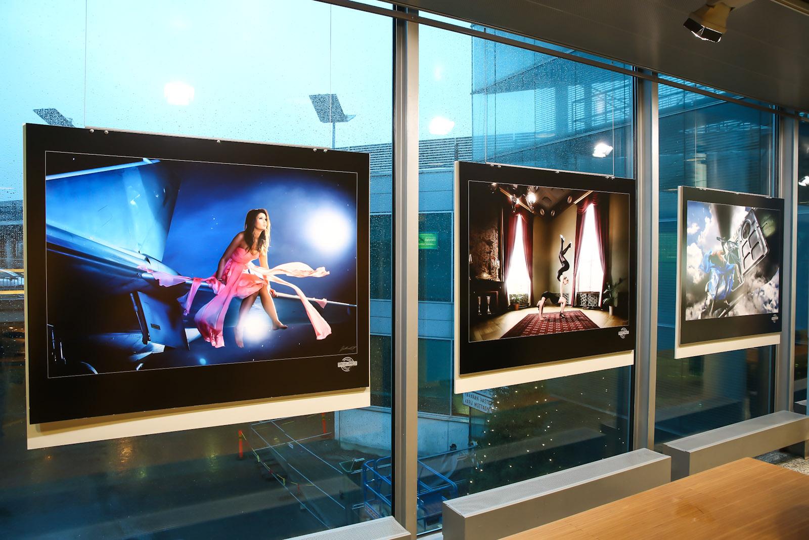 Выставка фотографий в аэропорту Хельсинки