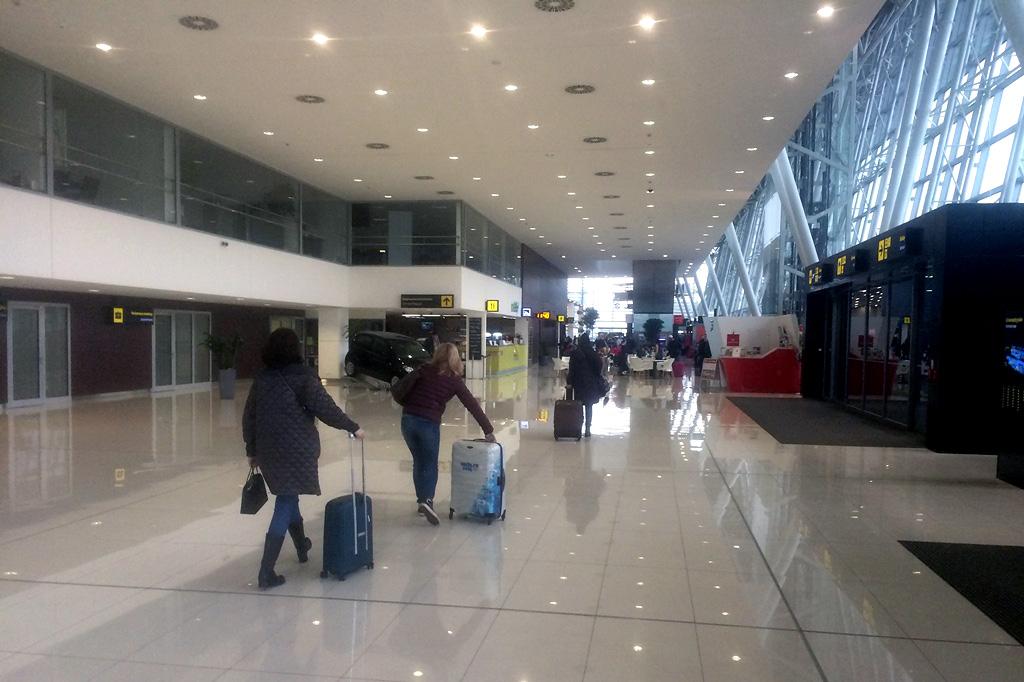 В пассажирском терминале аэропорта Братиславы