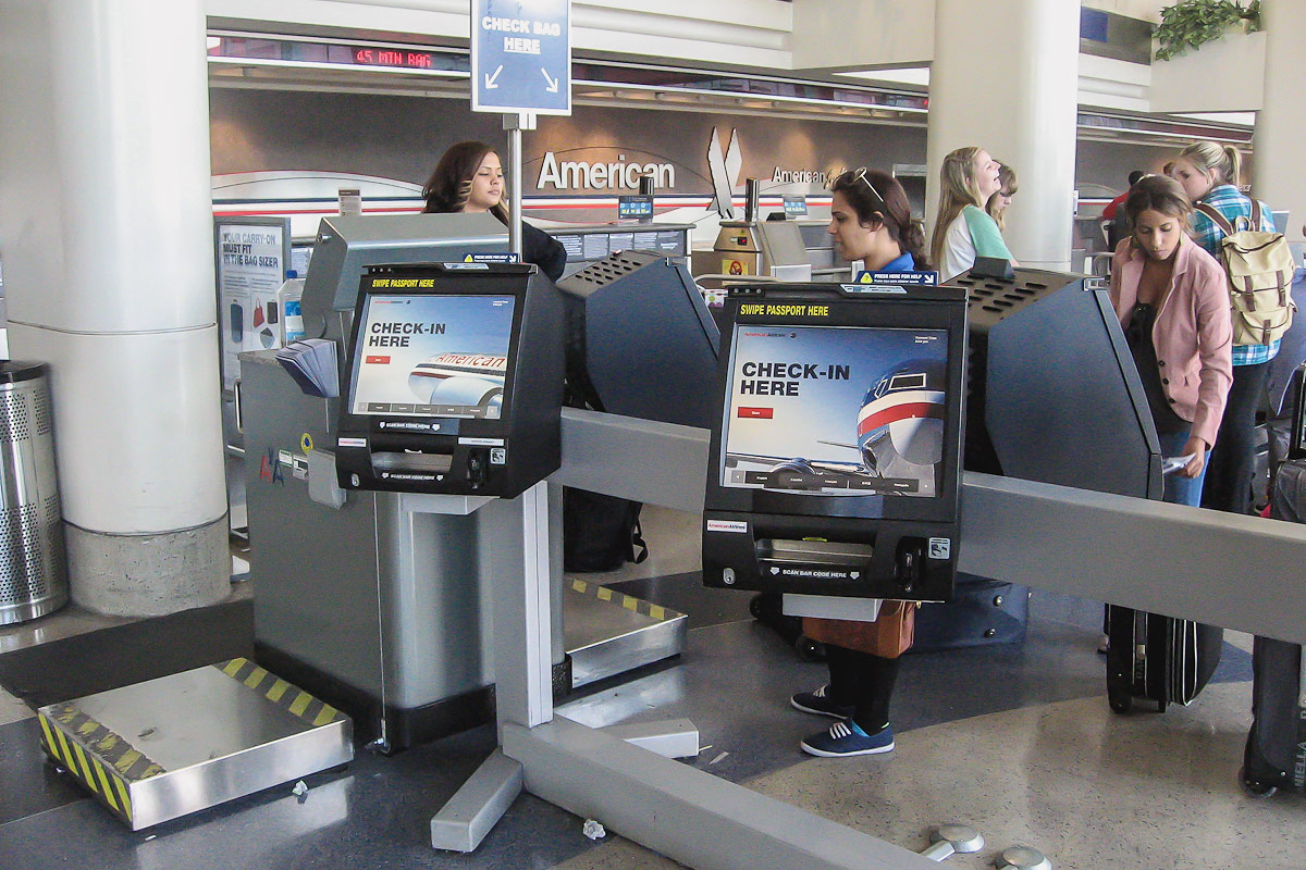 American Airlines check-in desks