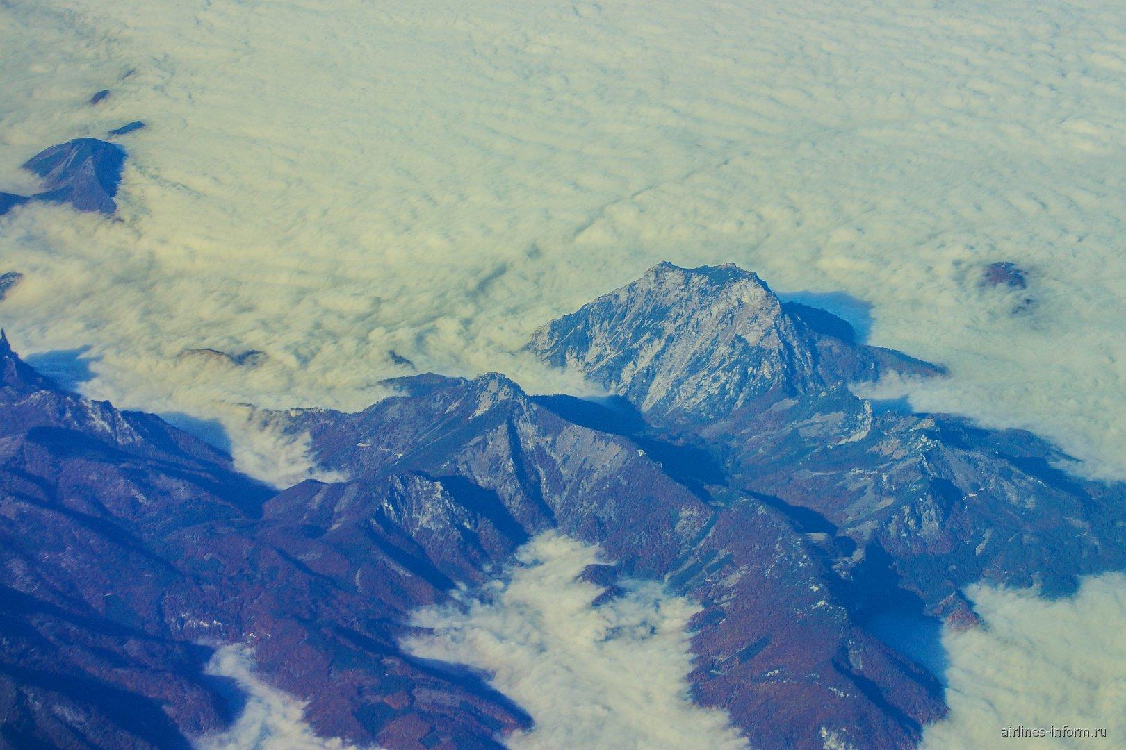 Вид на австрийские Альпы