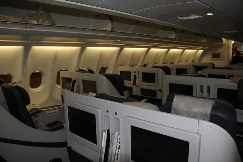 Passenger cabin of an Aeroflot Airbus A330-300