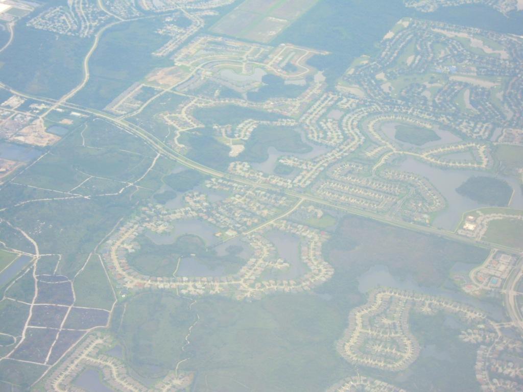 Узорчатые застройки пригорода Орландо