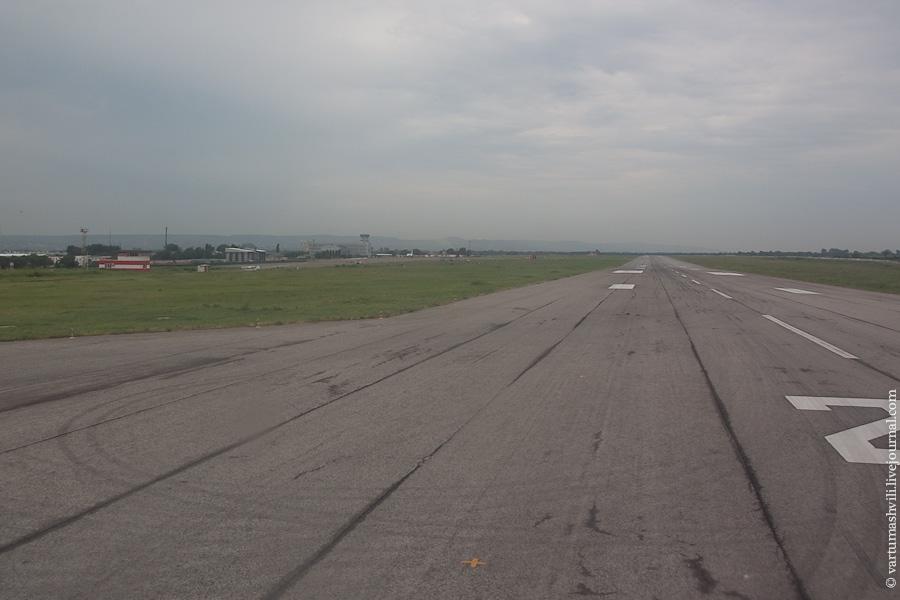 Взлетная полоса аэропорта Грозный